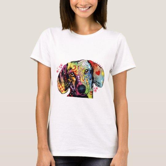 colourful Dachshund art T-Shirt