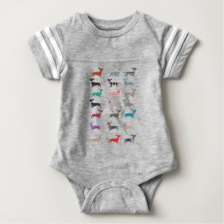 Colourful Dachshund! Baby Bodysuit