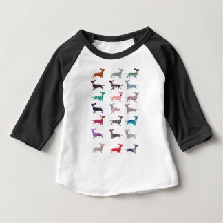 Colourful Dachshund! Baby T-Shirt