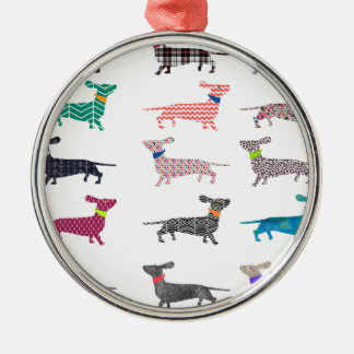 Colourful Dachshund! Christmas Ornament