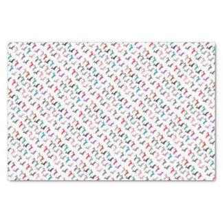Colourful Dachshund! Tissue Paper