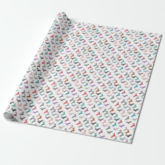 Colourful Dachshund! Wrapping Paper