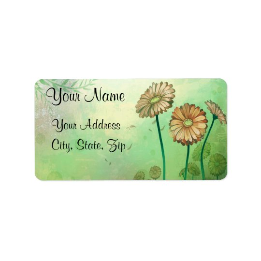 Colourful Daisies 3 Address Label