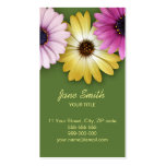 Colourful Daisies business card