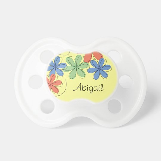 Colourful daisies, personalised dummy