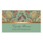 Colourful Damask  Business Card