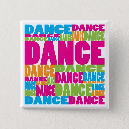 Colourful Dance 15 Cm Square Badge