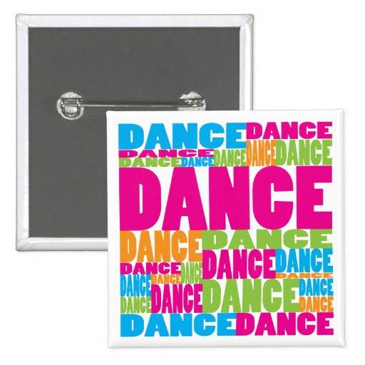Colourful Dance 15 Cm Square Badge