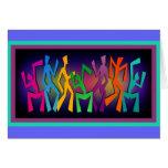 Colourful Dancers Art