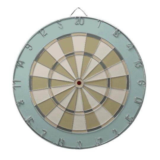 Colourful Dart Board in Muted Neutrals