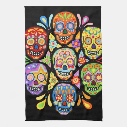 Colourful Day of the Dead Sugar Skull Kitchen