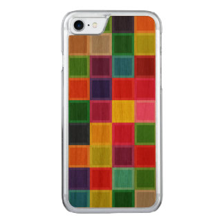 Colourful Design Cherry Wood Carved iPhone 7 Case
