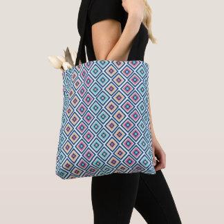 Colourful Diamond Pattern Women's Beach Tote Bag