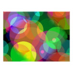 Colourful Disco Dots Poster