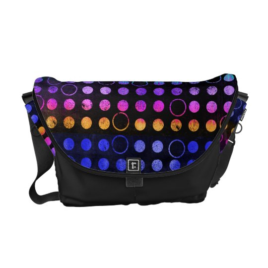 Colourful Distressed Dots Messenger Bag
