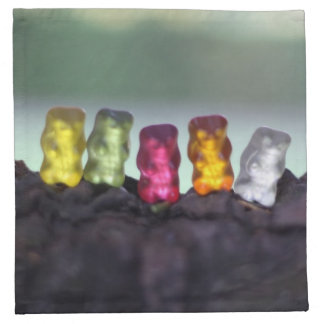 Colourful Diversity Gummy Bears Photography Napkin