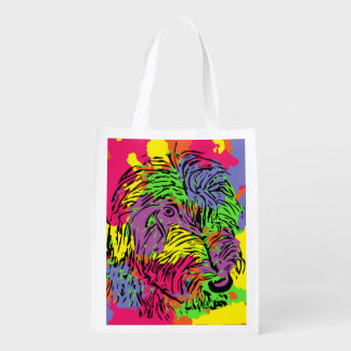 Colourful dog design bag