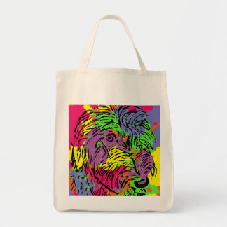 Colourful dog grocery bag
