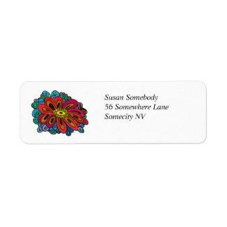 Colourful Doodle Return Address Label