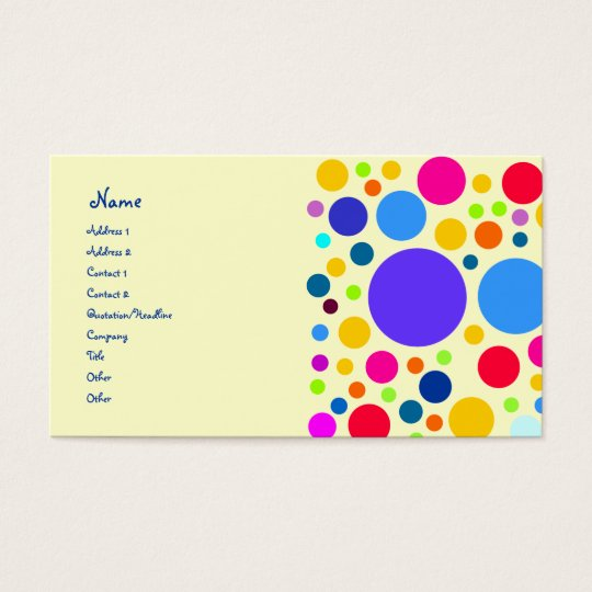 Colourful dot design business card