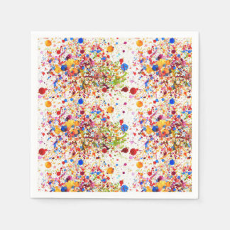 Colourful dots art Standard Cocktail Paper Napkins