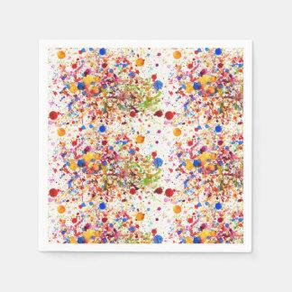 Colourful dots art Standard Cocktail Paper Napkins Paper Napkin