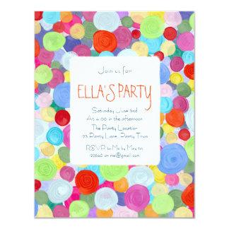Colourful dots card