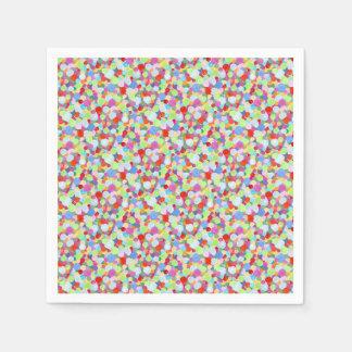 Colourful dots disposable serviettes
