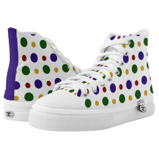 Colourful Dots Hi Tops Printed Shoes
