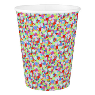 Colourful dots paper cup