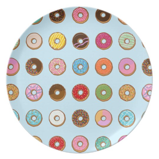 Colourful Doughnuts Plate