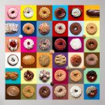 Colourful Doughnuts square poster