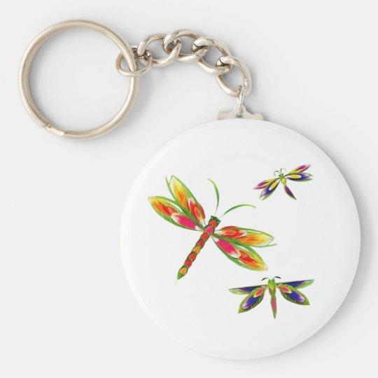 colourful dragonflies keychain