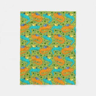 Colourful Dragons Fleece Blanket