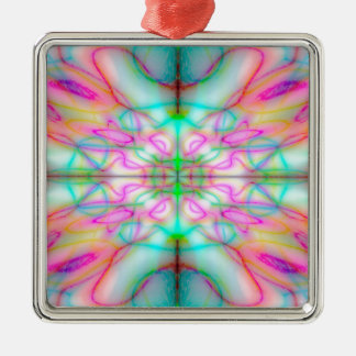 Colourful drawn pattern christmas ornament
