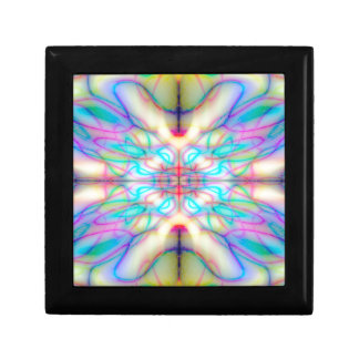Colourful drawn pattern gift box