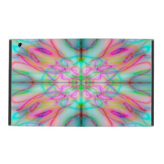 Colourful drawn pattern iPad cover