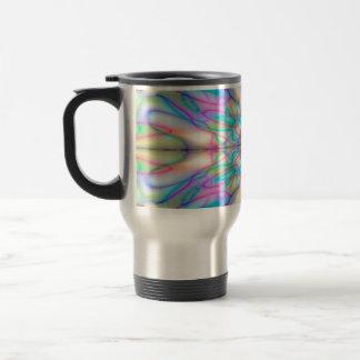 Colourful drawn pattern travel mug