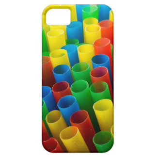 Colourful drinking straws iphone case