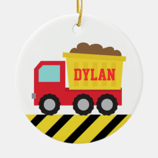 Colourful Dump Truck, Construction Vehicle for Boy Christmas Ornament