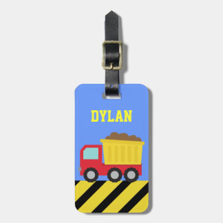 Colourful Dump Truck, Construction Vehicle for Boy Luggage Tag