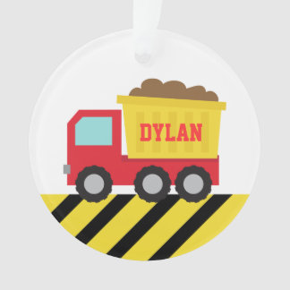 Colourful Dump Truck, Construction Vehicle for Boy Ornament