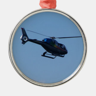 Colourful E120 helicopter Christmas Ornament