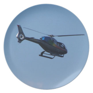Colourful E120 helicopter Dinner Plates