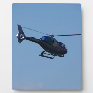 Colourful E120 helicopter Photo Plaques