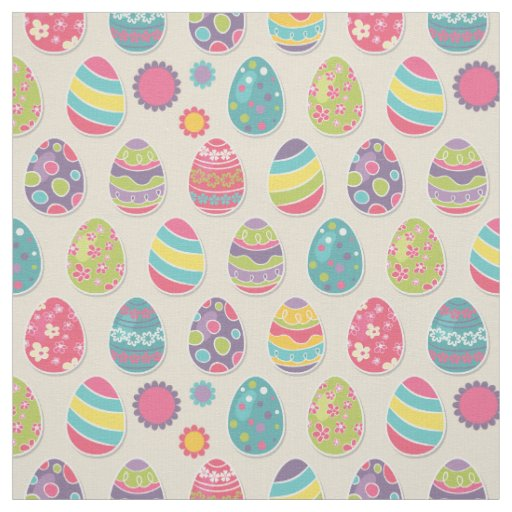 Colourful Easter eggs fabric