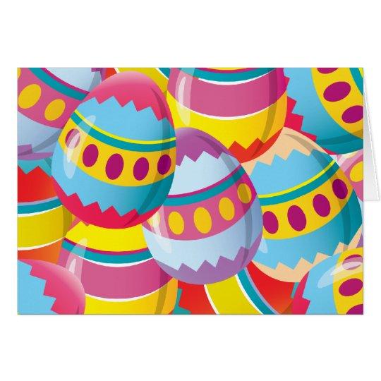 Colourful Easter Eggs - Fiesta Colours Card