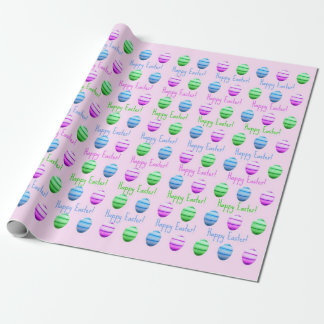 Colourful Easter Eggs Happy Easter Wrapping Paper