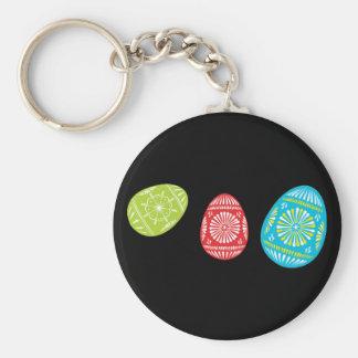 Colourful Easter Eggs Keychain 1
