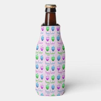 Colourful Easter Eggs Pattern Bottle Cooler
